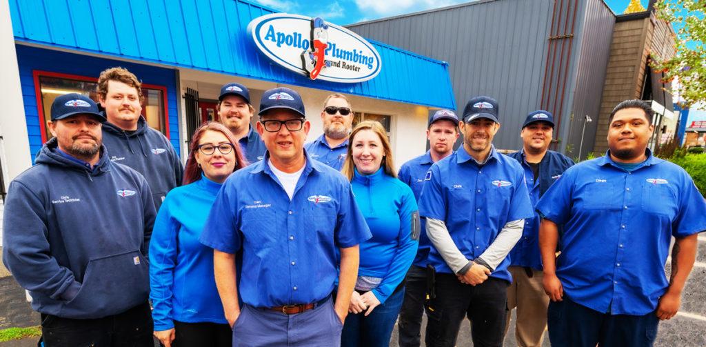 Apollo Plumbing Everett Team Pic